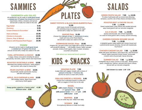 food menu food menu silver bean cafe
