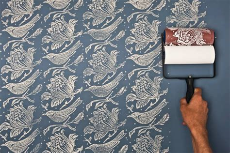 wallpaper paint roller paint on wallpaper changes your room s look in a swoosh