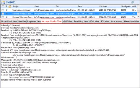 Email Header Search Windows Live Mail Forensics Search Inside Eml Files