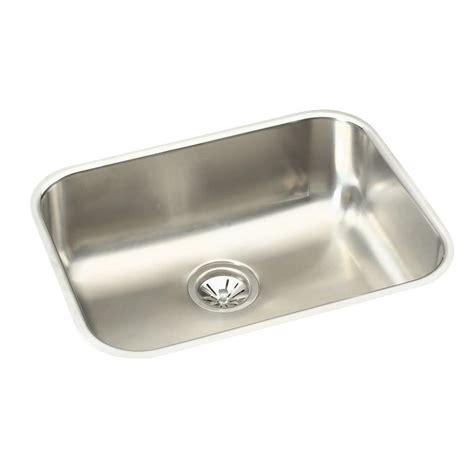 Single Basin Stainless Steel Undermount Kitchen Sink Elkay Crosstown Undermount Stainless Steel 24 In Single Basin Kitchen Sink Hdu24189f The Home