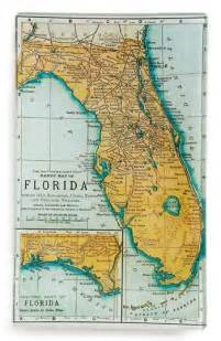 florida map trinket tray vintage makes me swoon