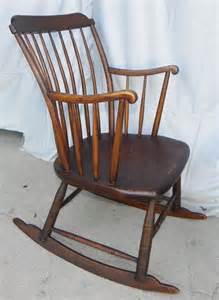 Furniture gt antique primitive windsor style youth rocking chair