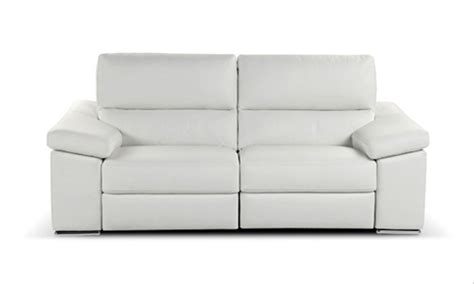 white leather recliner sofa white leather reclining sofa smalltowndjs com