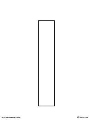lowercase letter l template printable myteachingstation com