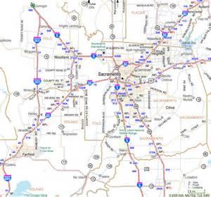 sacramento map of california sacramento area