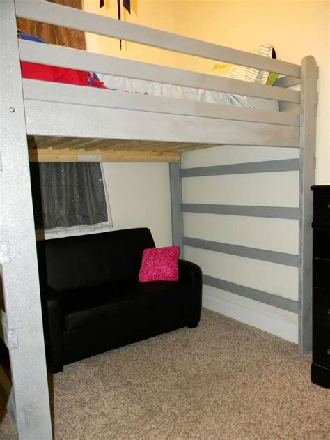 lofted queen bed queen loft bed