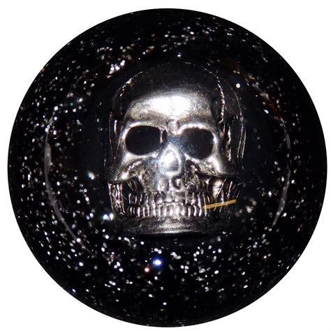 black glitter metal flake skull shift knob