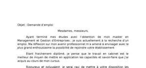 Exemple De Lettre De Demande D Emploi Word Lettre De Motivation Candidature Spontan 233 E Mod 232 Le Gratuit
