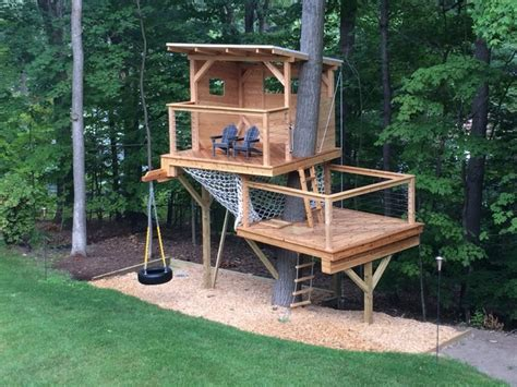 Landscape Structures Treehouse Cedar Stage Treehouse Modern Landscape Boston By