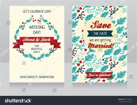 wedding save the date cards postcard style beautiful floral design wedding invitation save stock