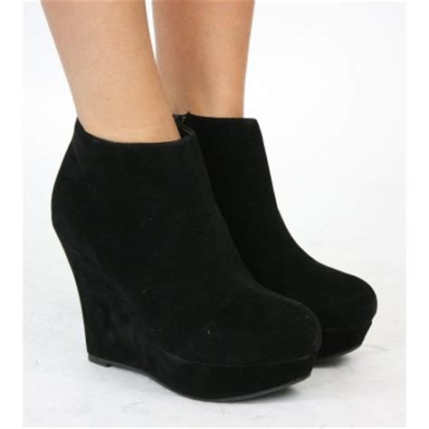 Tricia Sneakers Black trisha black wedge boots wedges boots