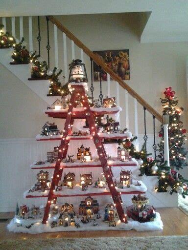 christmas village ladder display ideas fishwolfeboro