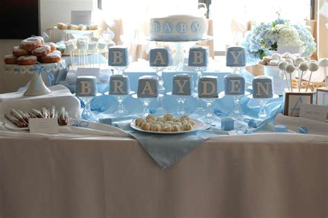 shabby chic boy baby shower party ideas photo 16 of 21