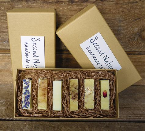 Boxes For Handmade Soap - gift box of handmade guest soaps by second nature soaps