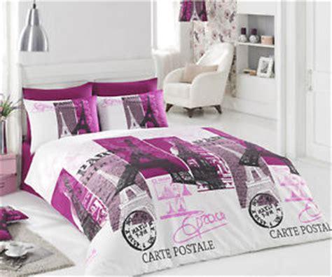paris comforter set full 100 cotton 4pcs paris vintage purple full quilt duvet
