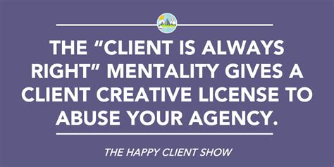 the creative license giving 1401307922 is the client always right