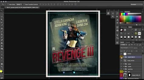 layout poster photoshop movie poster design in photoshop use this premade