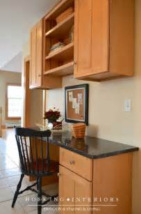 Built In Kitchen Desk Staging A Built In Kitchen Desk Interior Pinterest
