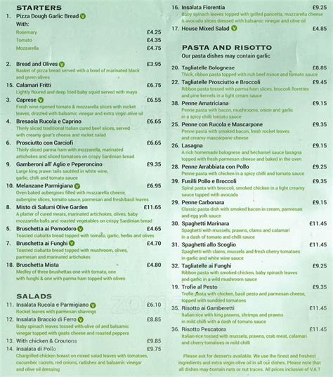 the olive garden southfields olive garden menu menu for olive garden southfields zomato uk