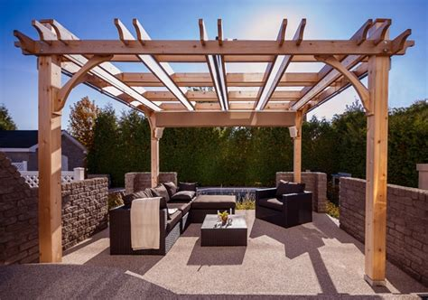 covered pergola retractable canopy waterproof outdoor