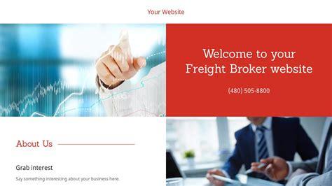 Freight Broker Website Templates Exle 10 Freight Broker Website Template Godaddy