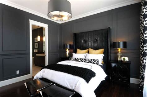 black bedroom interior designs dramatic yet