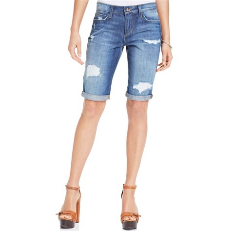 Distressed Denim women s distressed denim bermuda shorts baggage clothing