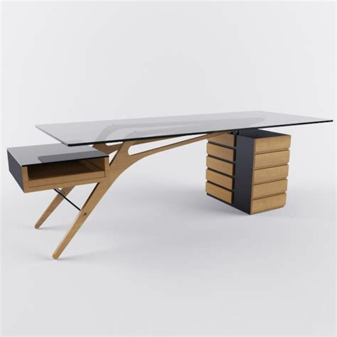 Office Desk Pictures 3d models table desk zanotta cavour