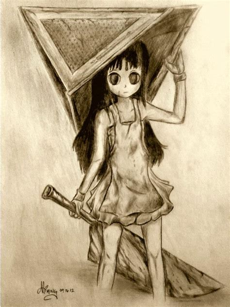 chibi version of pyramid head of silent hill by mimiyaw on