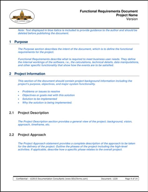 Functional Requirements Document