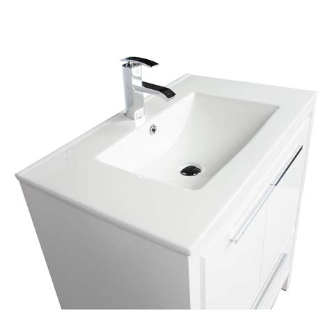 buy cbi enna 30 inch glossy white modern bathroom vanity tn la750 hgw on concepbaths