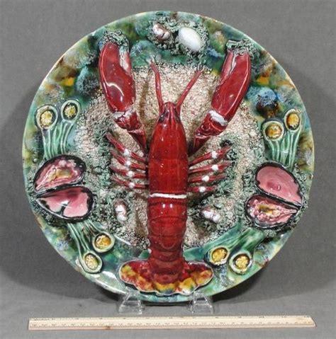 Kape Plat Nug 1 Set vintage handmade palissy majolica pottery cape cod