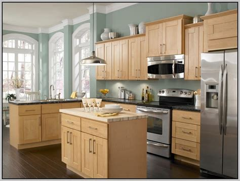 Honey Oak Kitchen Cabinets Wall Color by Paint Colors For Honey Maple Cabinets Paint Colors
