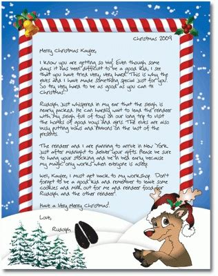 santa letters free sle letter template videos2watch 1609
