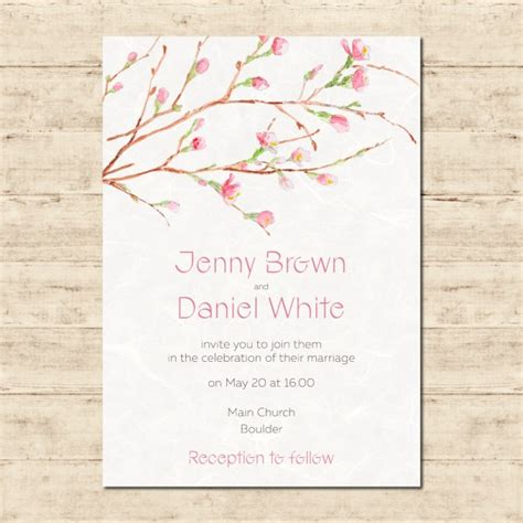 painted watercolor wedding invitations watercolor painted wedding invitation vector free