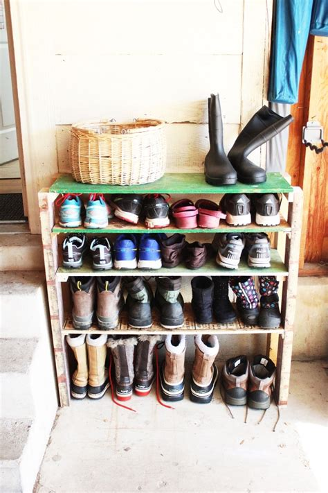 diy shoe shelf diy shoe storage shelves for garage an easy fast and