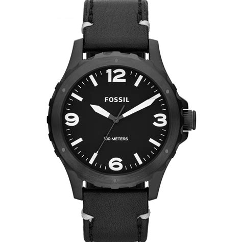 mens nate all black jr1448 fossil from