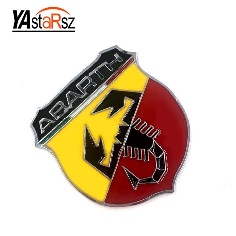 Emblem Badge M 3 3d 3m car abarth metal adhesive badge emblem logo decal sticker scorpion for all fiat abarth