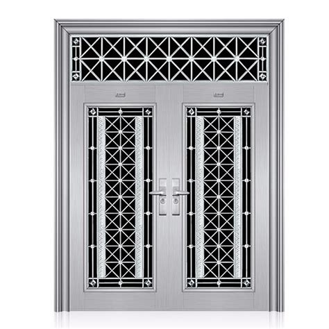 apartment main gate design stainless steel double door