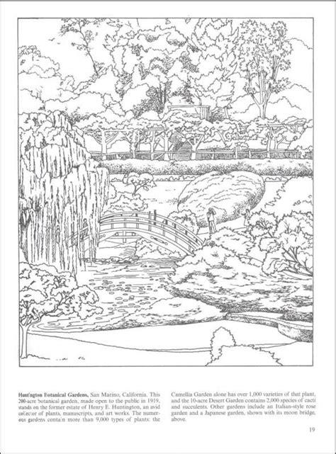 coloring pages for adults garden nature coloring pages for adults botanical gardens