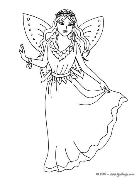 imagenes de hadas para dibujar a lapiz dibujos para colorear hada con un hermoso vestido es