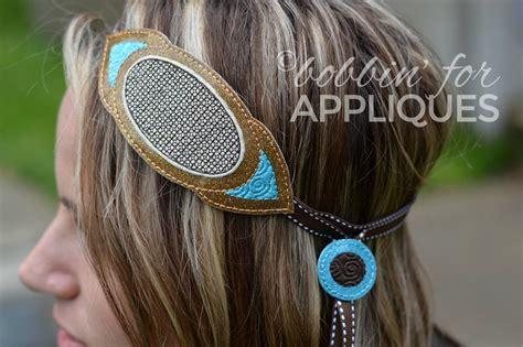 Oblong Motif oblong motif adjustable ribbon headband ith