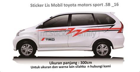 Stiker Mobil List Trd Sportivo Toyota Minimalis Sticker Sing harga sticker cutting list mobil side stripe sb 09
