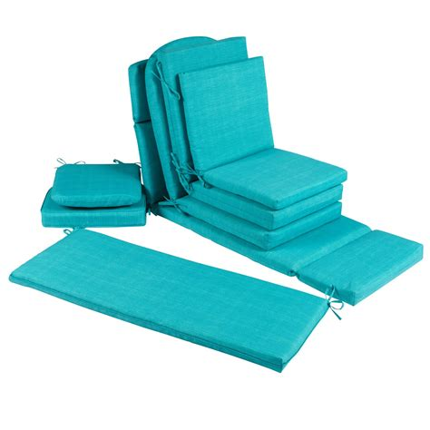 Solid Turquoise All Weather Seat Cushions Collection