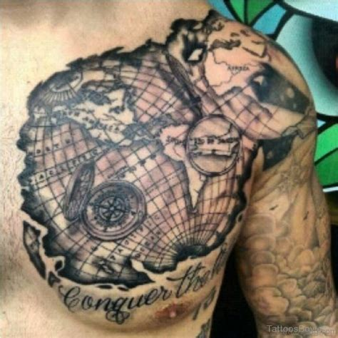 treasure map tattoo 38 stylish map tattoos on chest