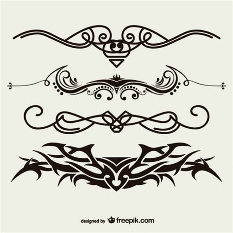 tattoo vector images tribal tattoos set vector free download