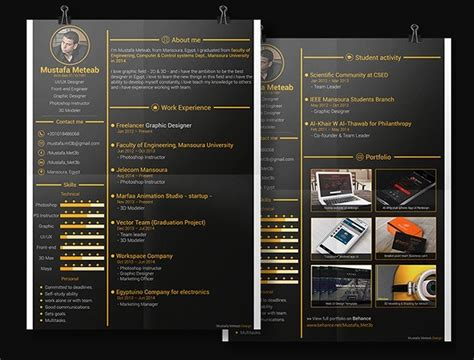graphic design cv template psd free gold resume cv template psd titanui