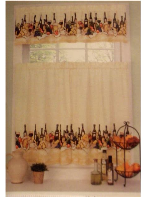 merlot wine themed kitchen curtains set update your grape