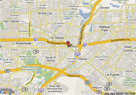 Al S Garden El Monte Ca Map Of Americas Best Value Inn El Monte