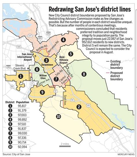 san jose city map boundary redistricting finalized minimal impacton